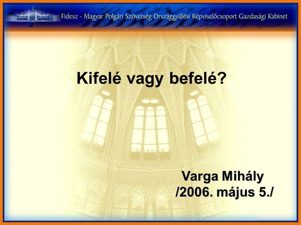 Kifelé vagy befelé Varga Mihály /2006. május 5./ /2006. május 5./
