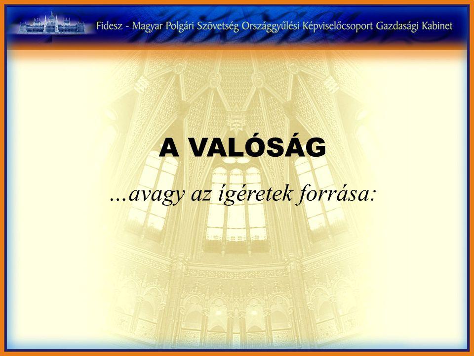 A VALÓSÁG …avagy az ígéretek forrása: