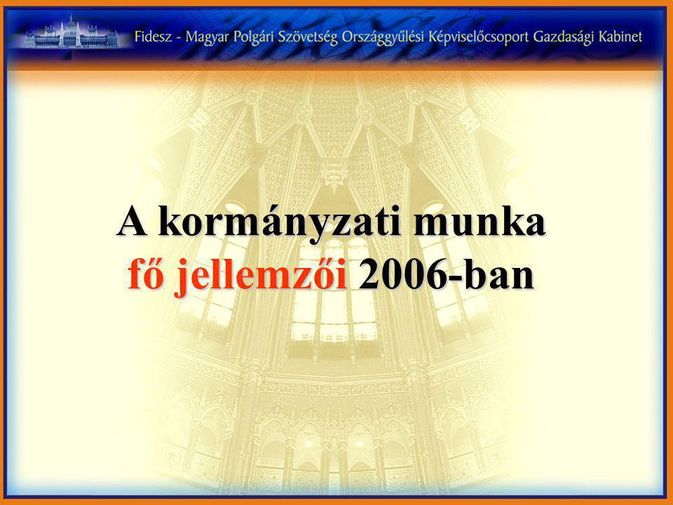 A kormányzati munka fő jellemzői 2006-ban