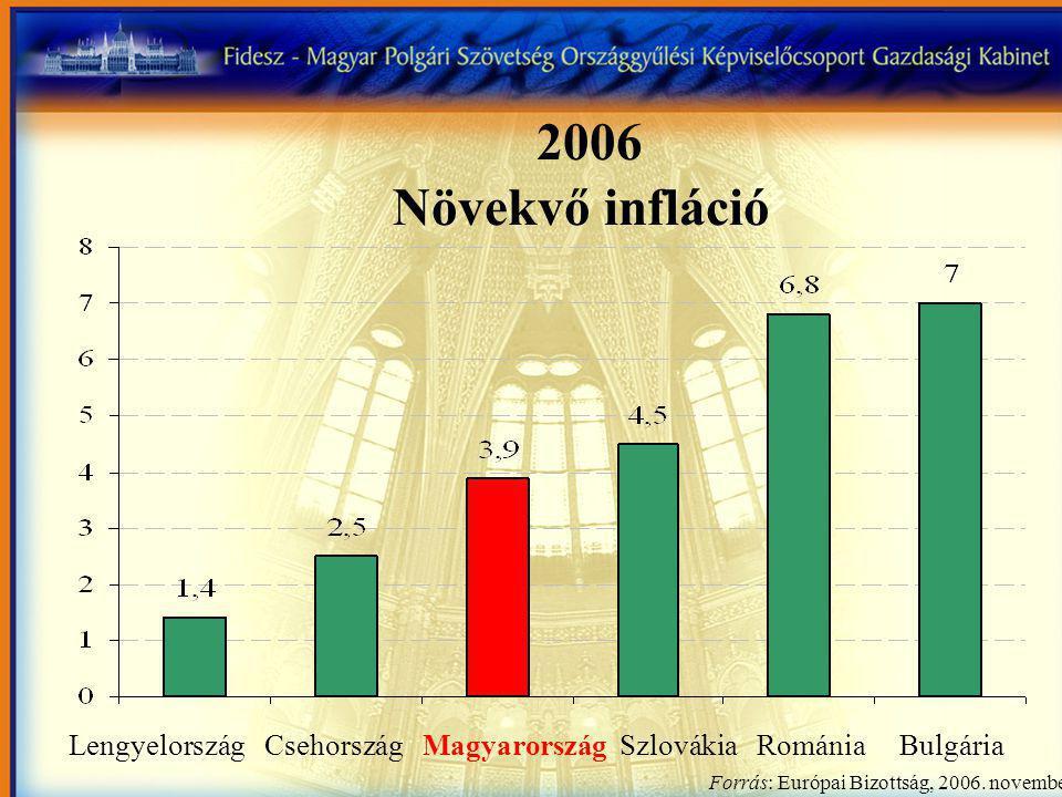 Lengyelország Csehország Magyarország Szlovákia Románia Bulgária Forrás: Európai Bizottság, 2006.