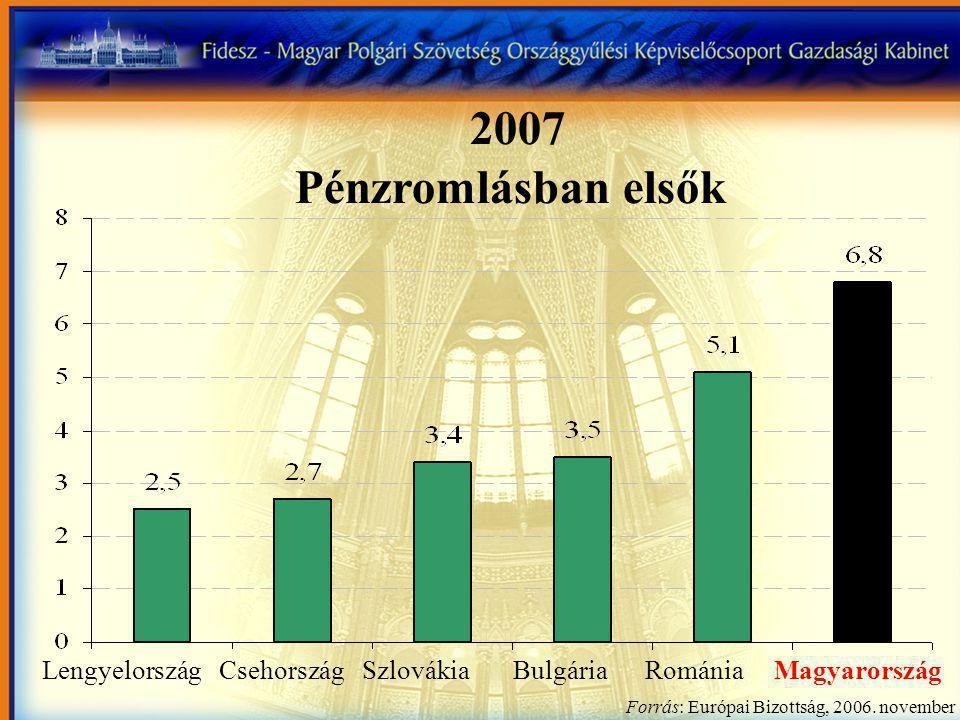 Lengyelország Csehország Szlovákia Bulgária Románia Magyarország Forrás: Európai Bizottság, 2006.