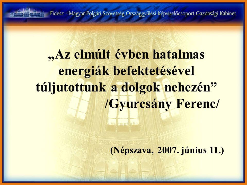 """""""Az elmúlt évben hatalmas energiák befektetésével túljutottunk a dolgok nehezén /Gyurcsány Ferenc/ (Népszava, 2007."""