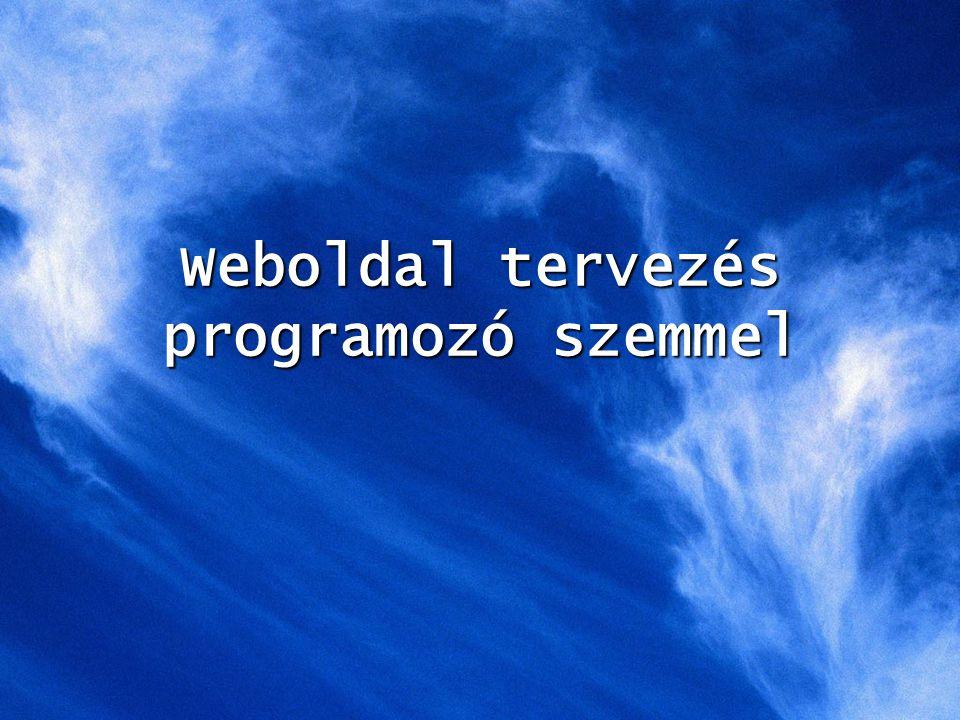 Weboldal tervezés programozó szemmel