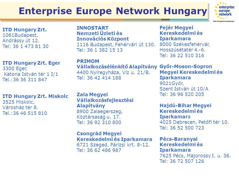 ITD Hungary Zrt. 1061Budapest, Andrássy út 12. Tel: 36 1 473 81 30 ITD Hungary Zrt.