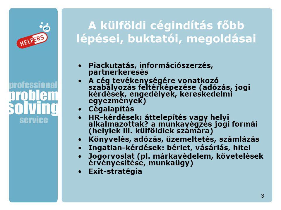 """14 Költséghatékony HR megoldások Magyarország: munkavállalói kiskönyv, START-kártya Románia: """"civil contract (kb."""