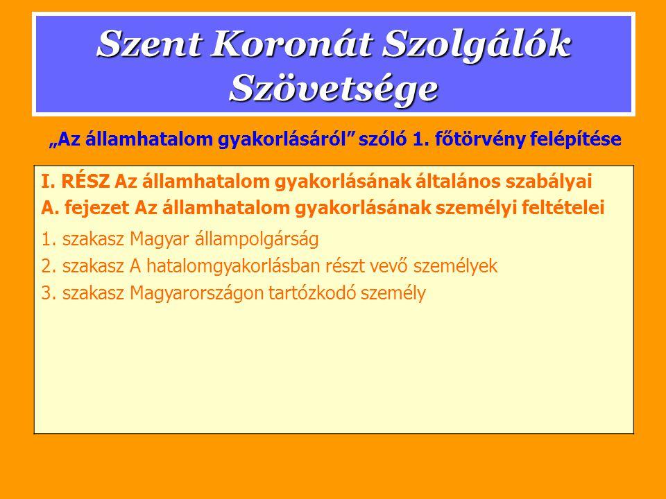 Szent Koronát Szolgálók Szövetsége 3.szakasz Miniszter Miniszter feladatai: 1.
