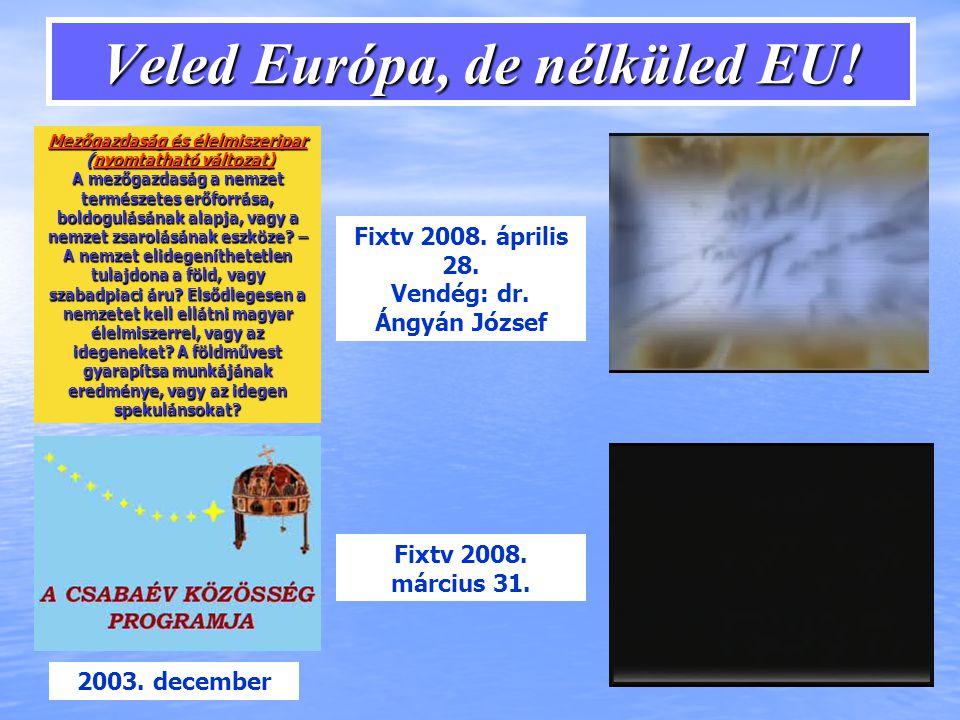 Veled Európa, de nélküled EU.