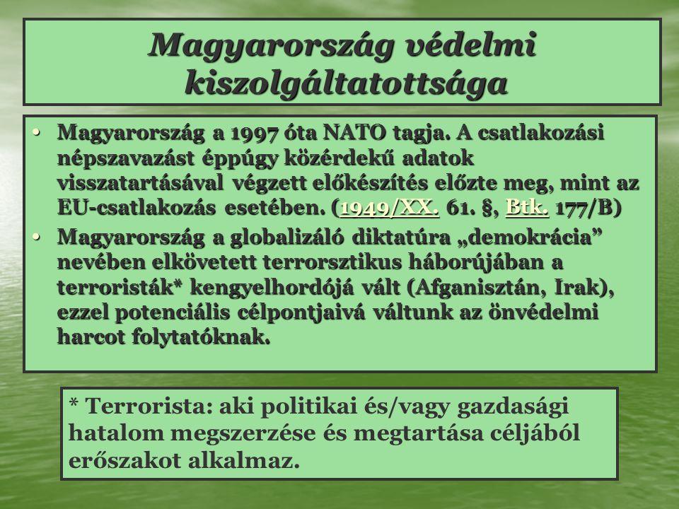 Magyarország védelmi kiszolgáltatottsága Magyarország a 1997 óta NATO tagja.
