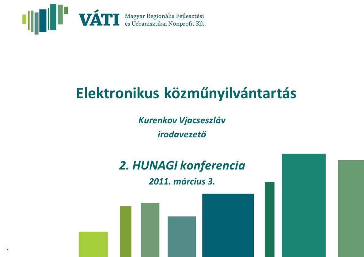 Elektronikus közműnyilvántartás Kurenkov Vjacseszláv irodavezető 2. HUNAGI konferencia 2011. március 3.