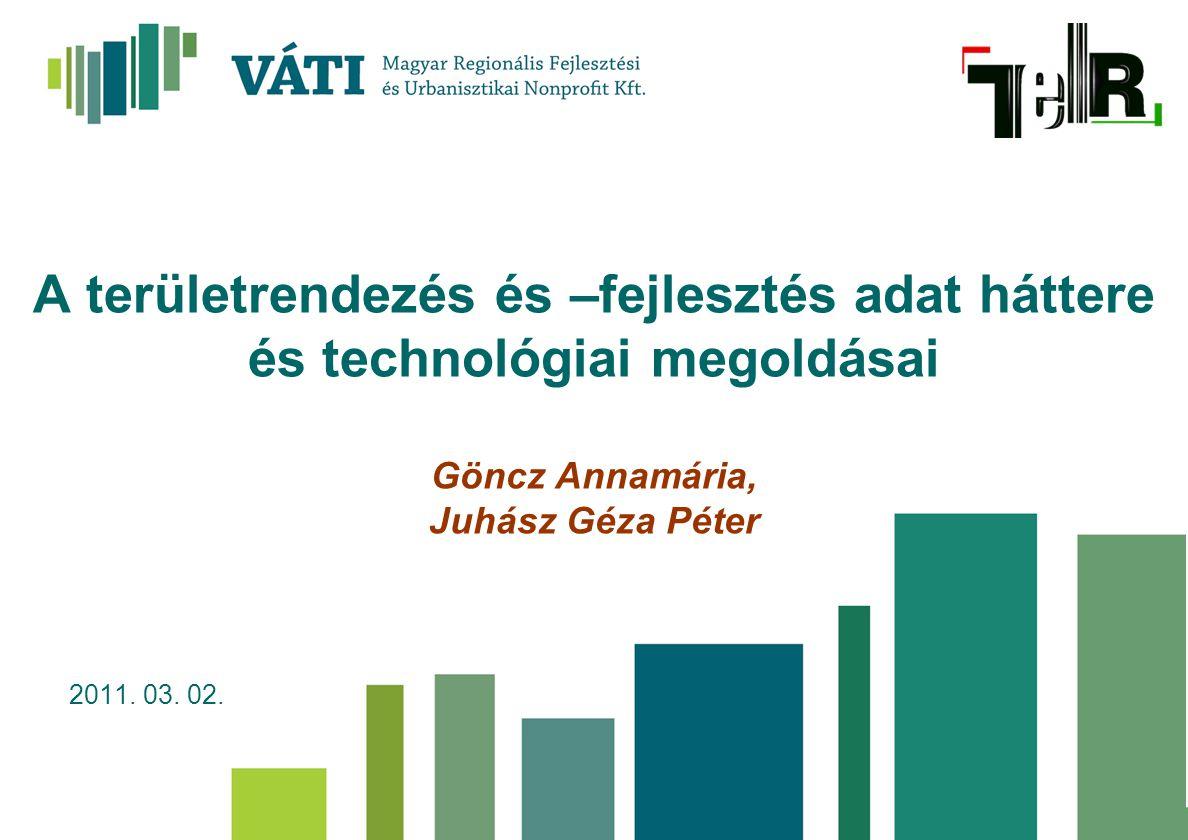 A területrendezés és –fejlesztés adat háttere és technológiai megoldásai Göncz Annamária, Juhász Géza Péter 2011. 03. 02.