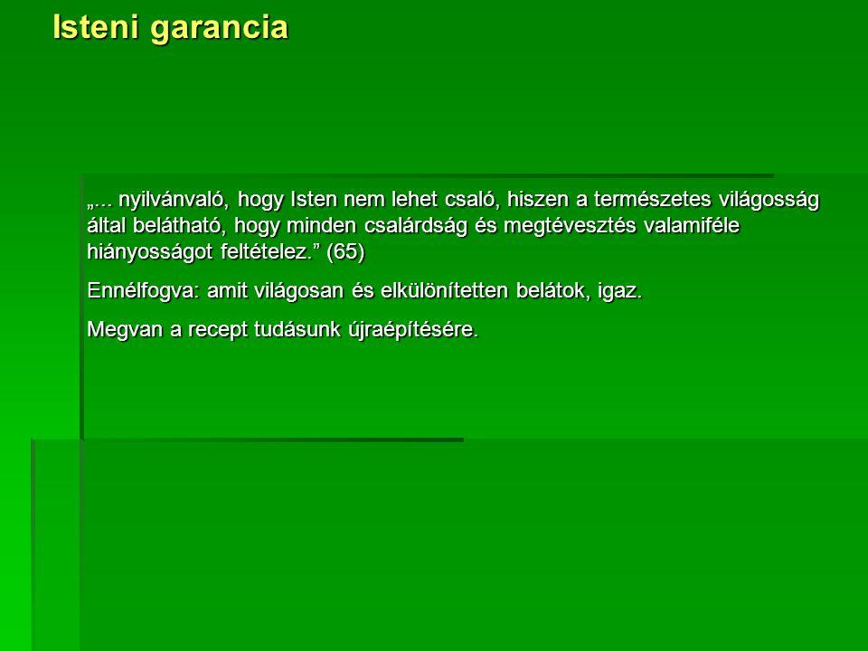 "Isteni garancia ""..."