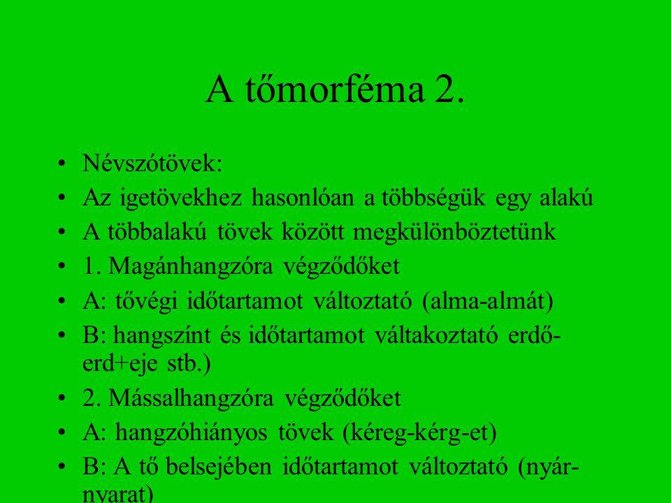 A tőmorféma 2.