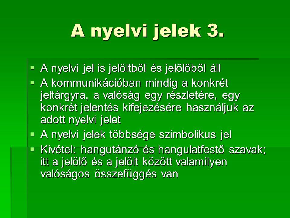 A nyelvi jelek 3.
