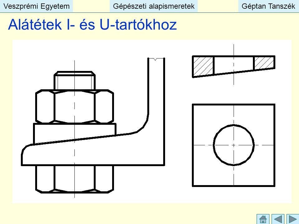 Veszprémi EgyetemGépészeti alapismeretekGéptan TanszékVeszprémi EgyetemGépészeti alapismeretekGéptan Tanszék Alátétek I- és U-tartókhoz