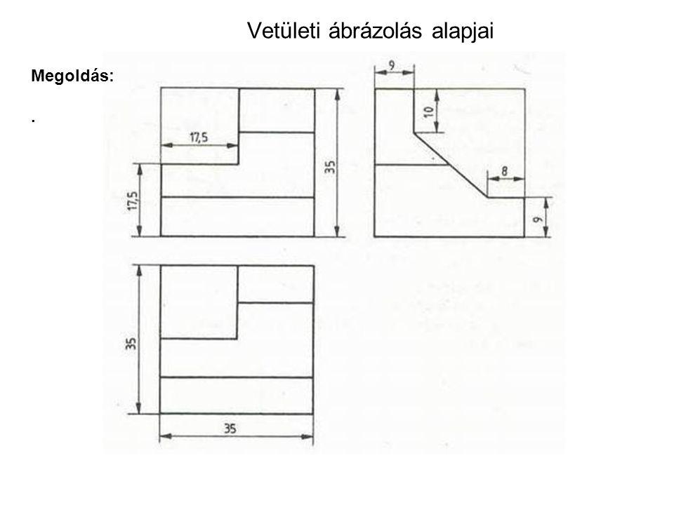 Vetületi ábrázolás alapjai Megoldás:.