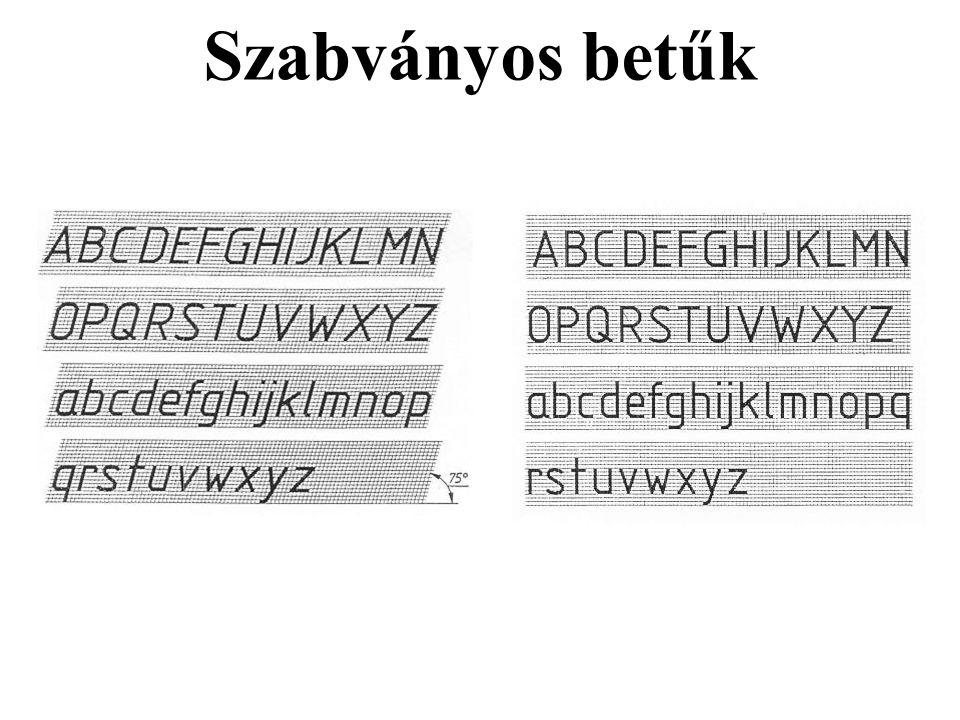Szabványos betűk