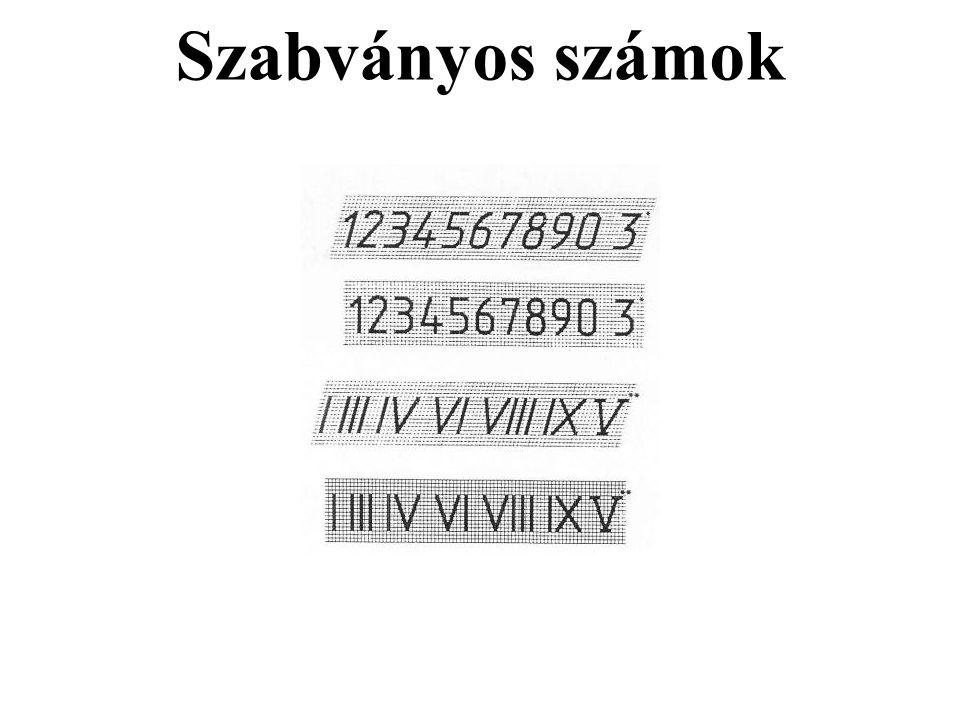 Szabványos számok