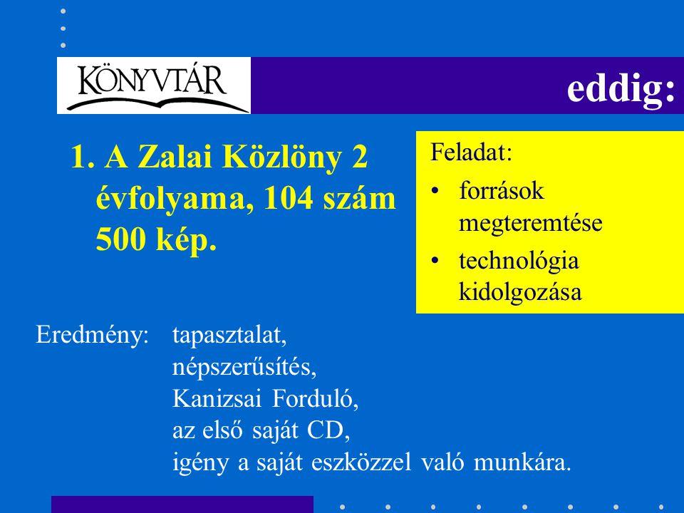 eddig: 1. A Zalai Közlöny 2 évfolyama, 104 szám 500 kép.