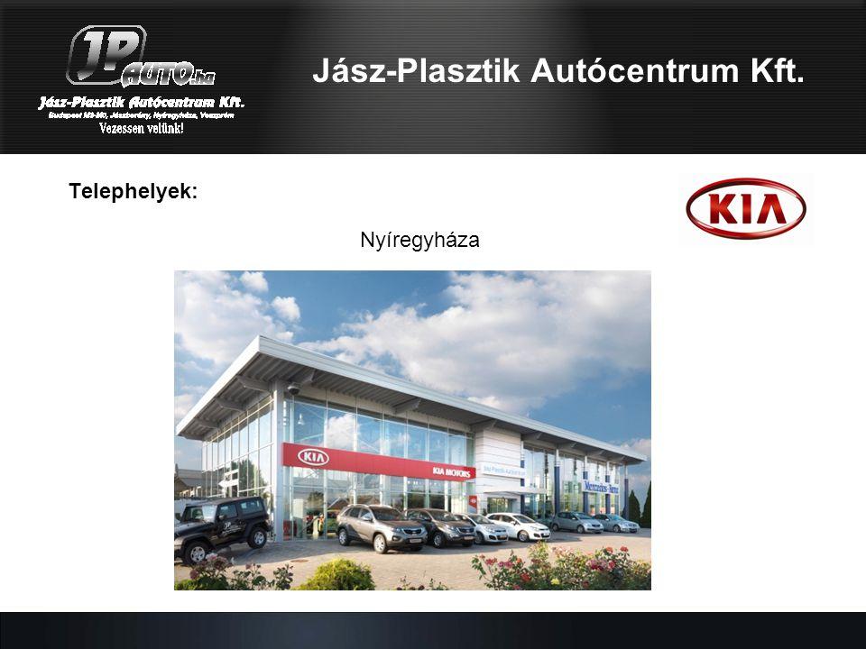 Telephelyek: Nyíregyháza Jász-Plasztik Autócentrum Kft.