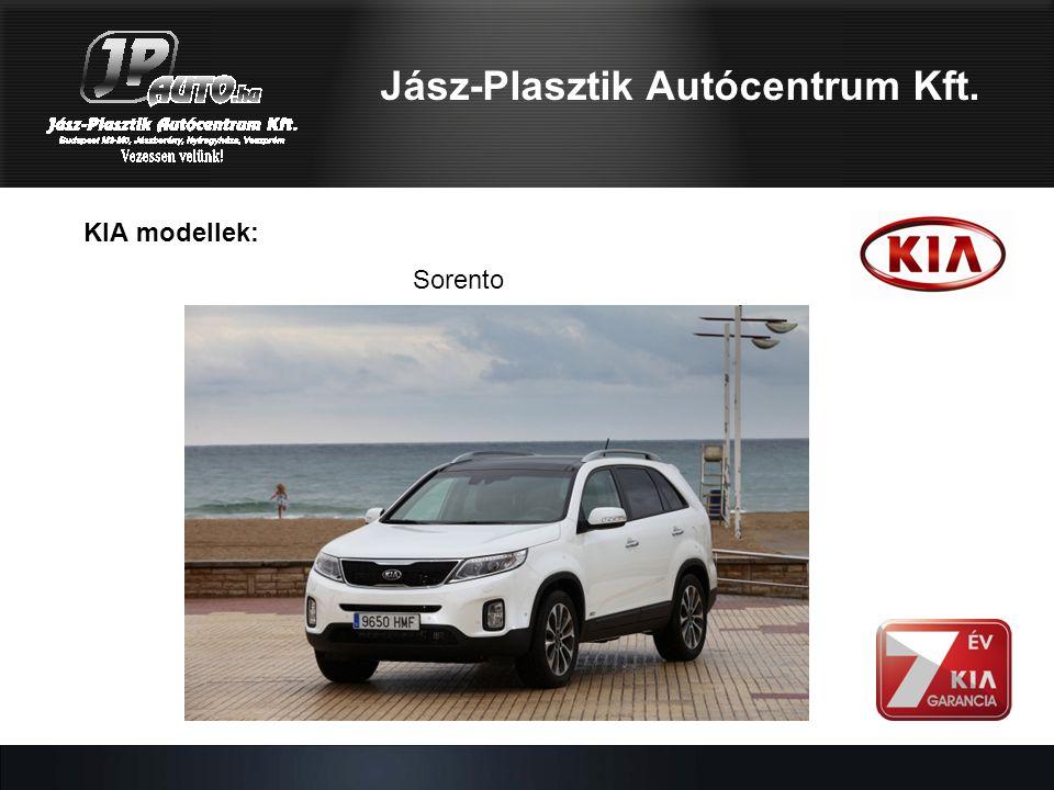 Jász-Plasztik Autócentrum Kft. KIA modellek: Sorento