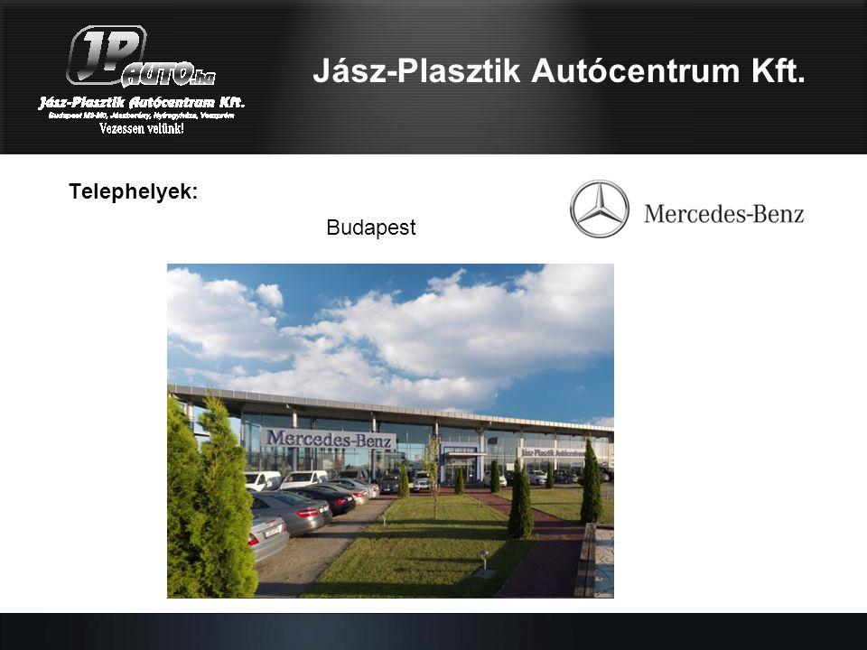 Telephelyek: Budapest Jász-Plasztik Autócentrum Kft.