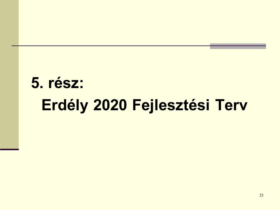33 5. rész: Erdély 2020 Fejlesztési Terv