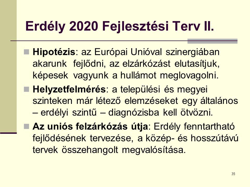 35 Erdély 2020 Fejlesztési Terv II.