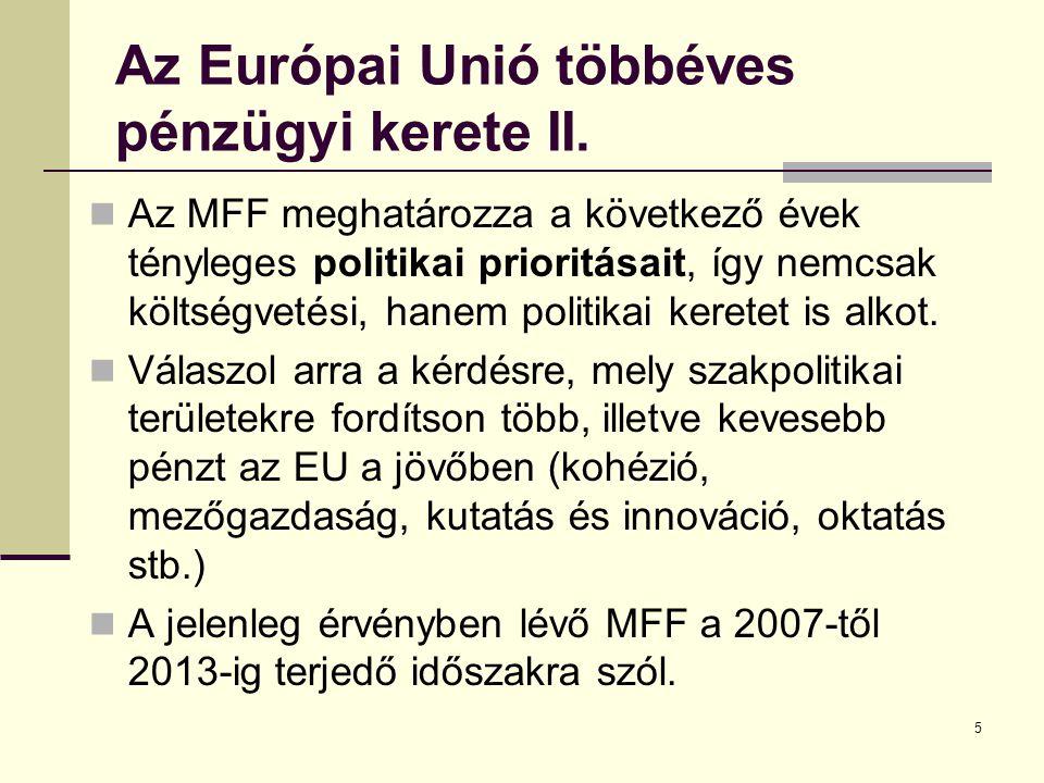 5 Az Európai Unió többéves pénzügyi kerete II.