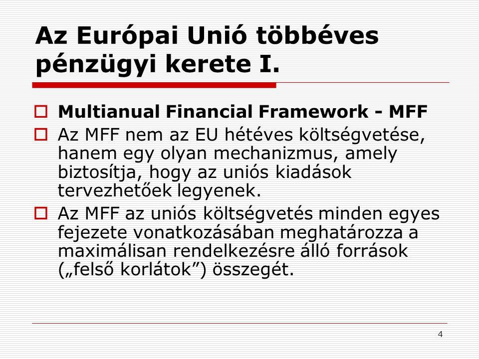 4 Az Európai Unió többéves pénzügyi kerete I.