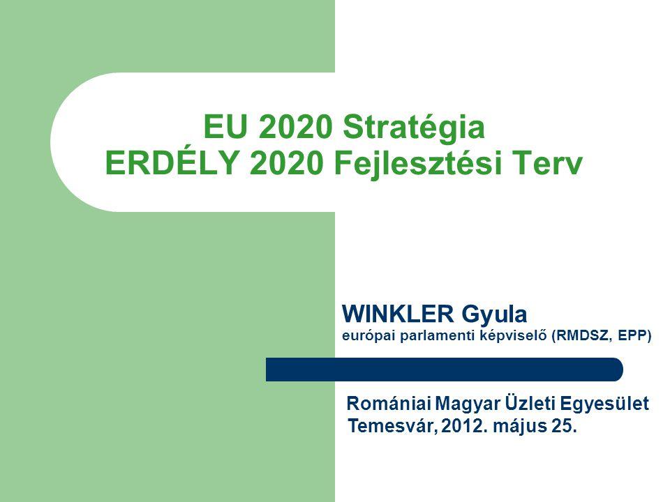 EU 2020 Stratégia ERDÉLY 2020 Fejlesztési Terv Romániai Magyar Üzleti Egyesület Temesvár, 2012.