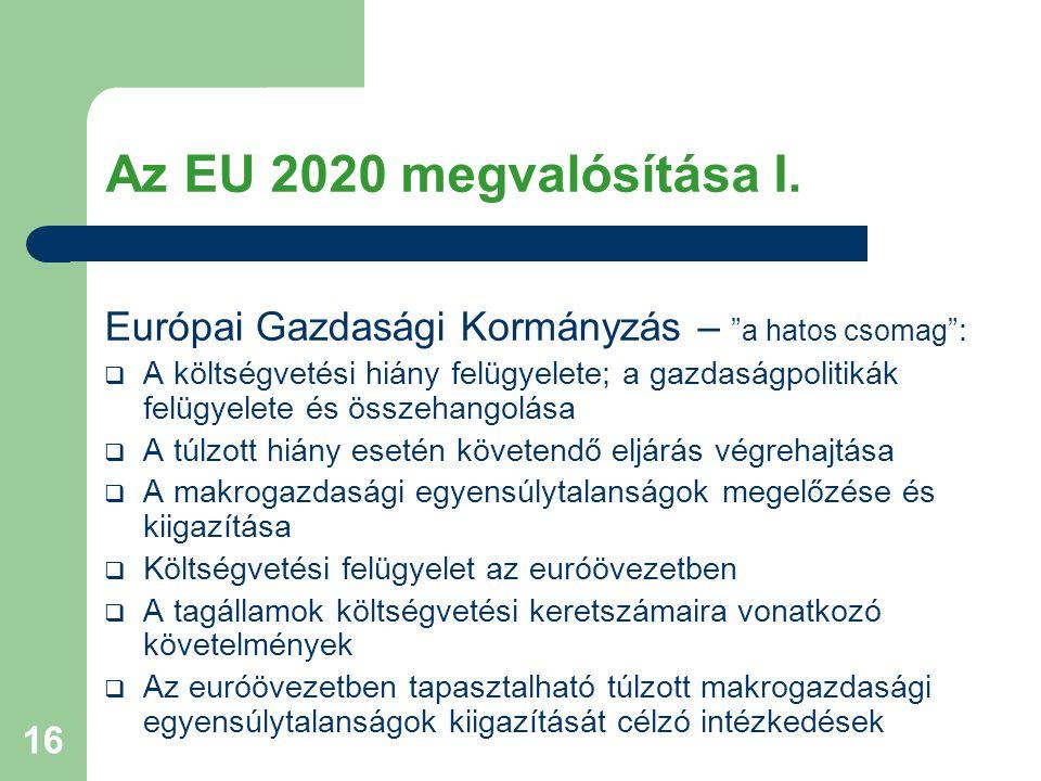 16 Az EU 2020 megvalósítása I.