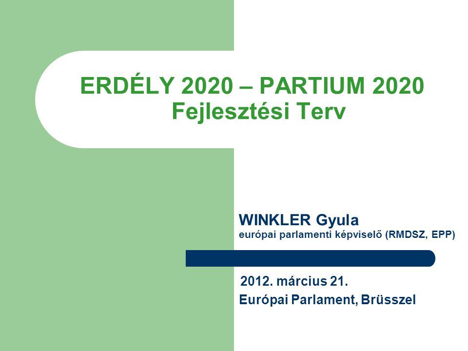 ERDÉLY 2020 – PARTIUM 2020 Fejlesztési Terv 2012. március 21. Európai Parlament, Brüsszel WINKLER Gyula európai parlamenti képviselő (RMDSZ, EPP)