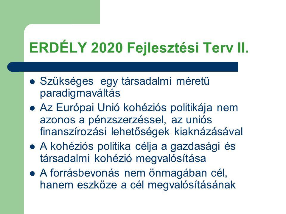 ERDÉLY 2020 Fejlesztési Terv II.