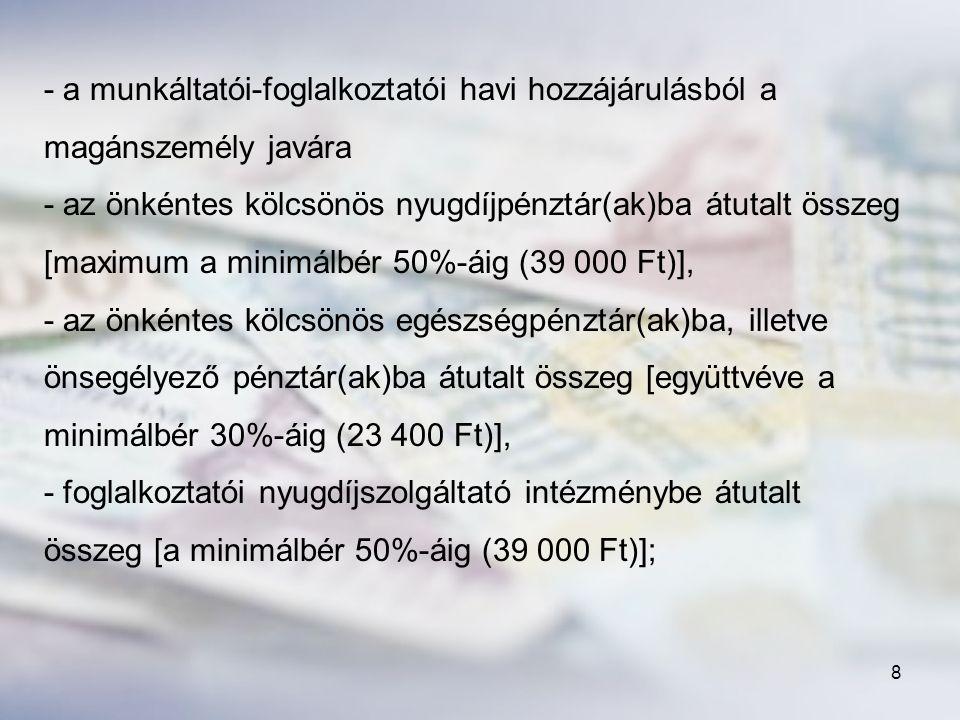 109 d) Tagintézményi támogatás FAJLAGOS ÖSSZEG: 90 000 forint/fő/év – 2011.