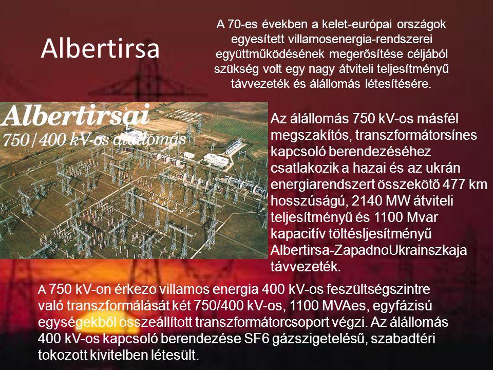 Albertirsa A 70-es években a kelet-európai országok egyesített villamosenergia-rendszerei együttműködésének megerősítése céljából szükség volt egy nag