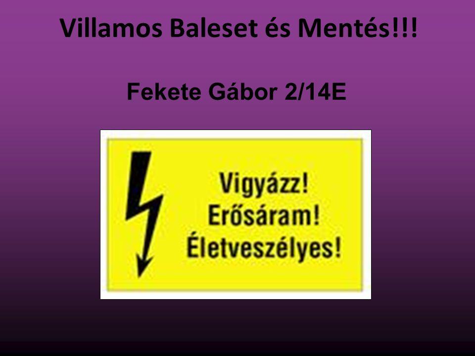 Villamos Baleset és Mentés!!! Fekete Gábor 2/14E