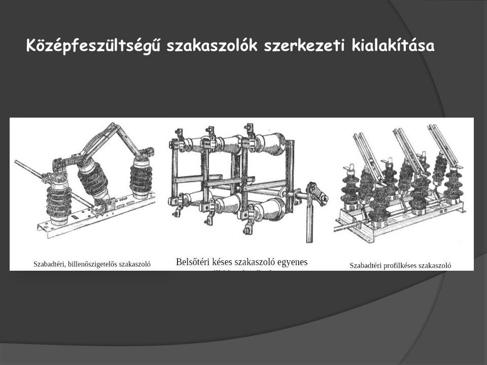Nagyfeszültségű szakaszolók szerkezeti kialakítása