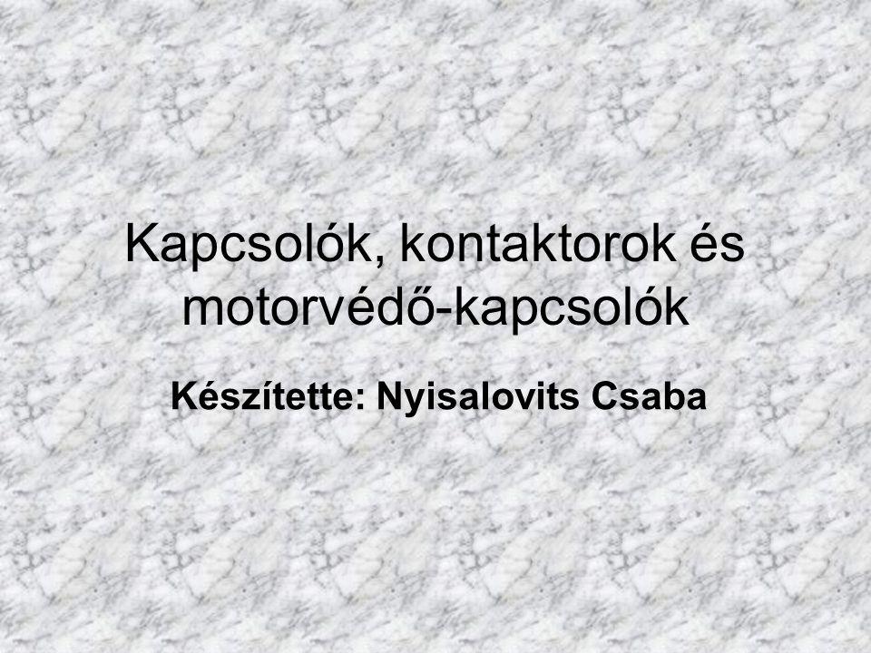 Kapcsolók, kontaktorok és motorvédő-kapcsolók Készítette: Nyisalovits Csaba