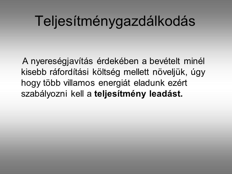 Teljesítménygazdálkodás eszközei  Szomszédos áramszolgáltatókkal kialakított szigetüzem  Transzformátorok feszültség szabályozása  HFK vezérelt fogyasztók alkalmazása  Kiserőművek bevonása  Nagyfogyasztókkal való egyezmények
