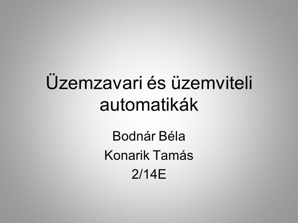 Üzemzavari és üzemviteli automatikák Bodnár Béla Konarik Tamás 2/14E