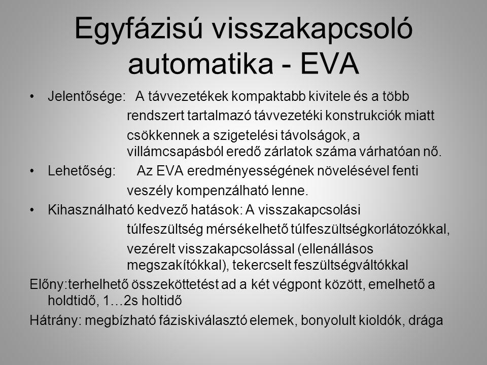 Egyfázisú visszakapcsoló automatika - EVA Jelentősége: A távvezetékek kompaktabb kivitele és a több rendszert tartalmazó távvezetéki konstrukciók miat