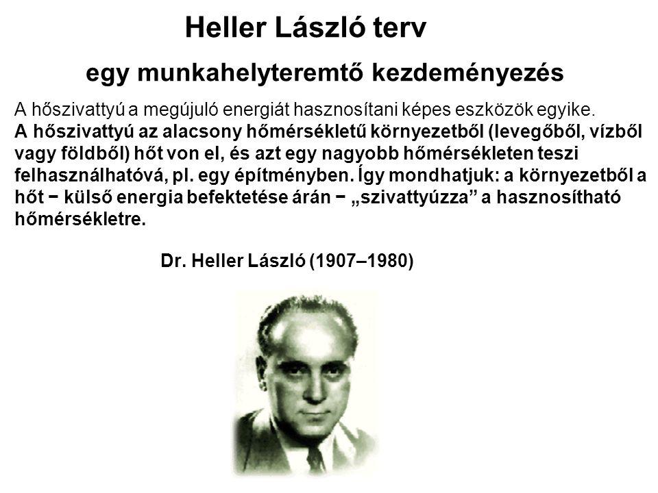 Heller László terv egy munkahelyteremtő kezdeményezés A hőszivattyú a megújuló energiát hasznosítani képes eszközök egyike.