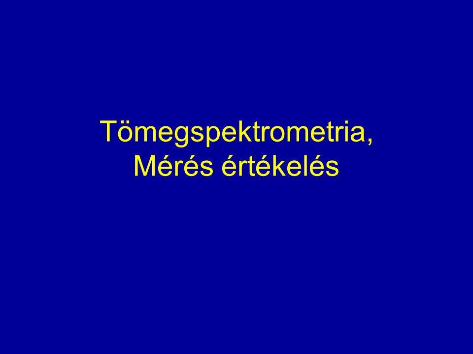 Tömegspektrometria, Mérés értékelés