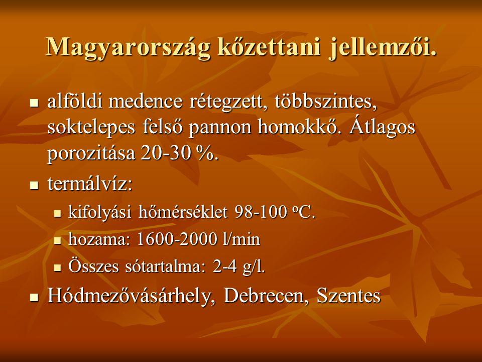 Magyarország kőzettani jellemzői.