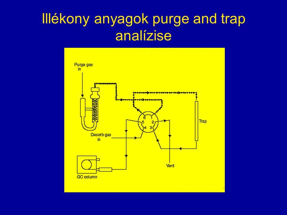 Illékony anyagok purge and trap analízise