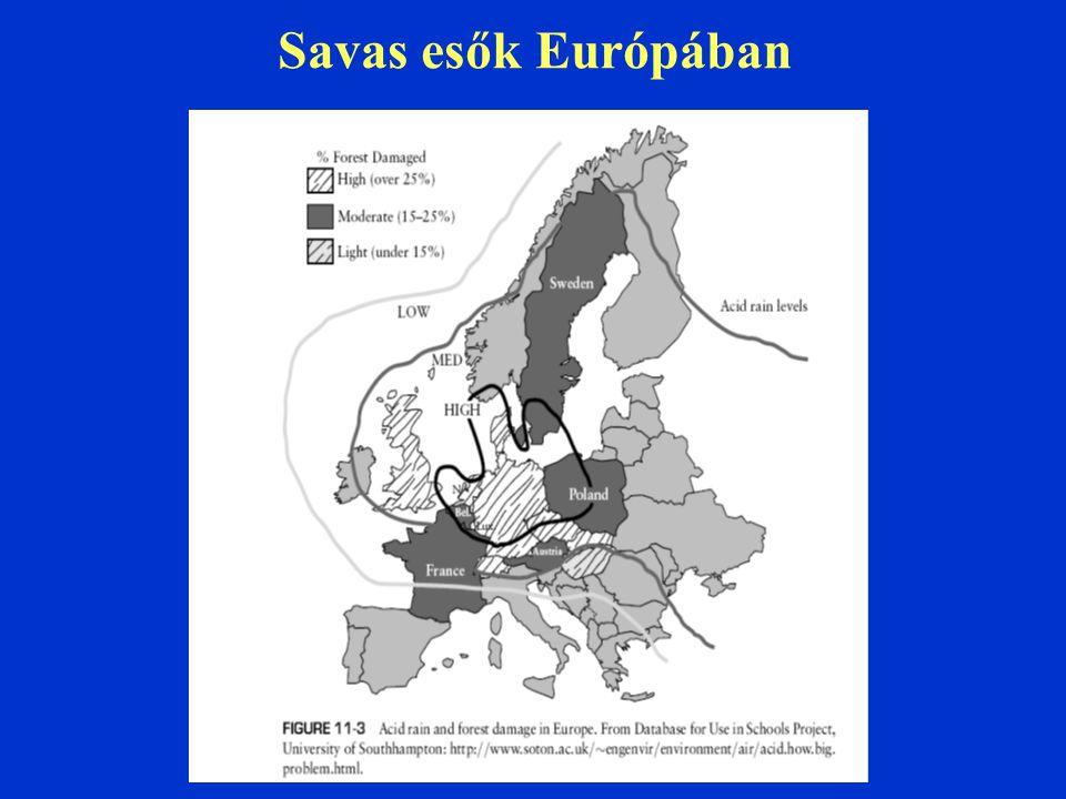 Savas esők Európában