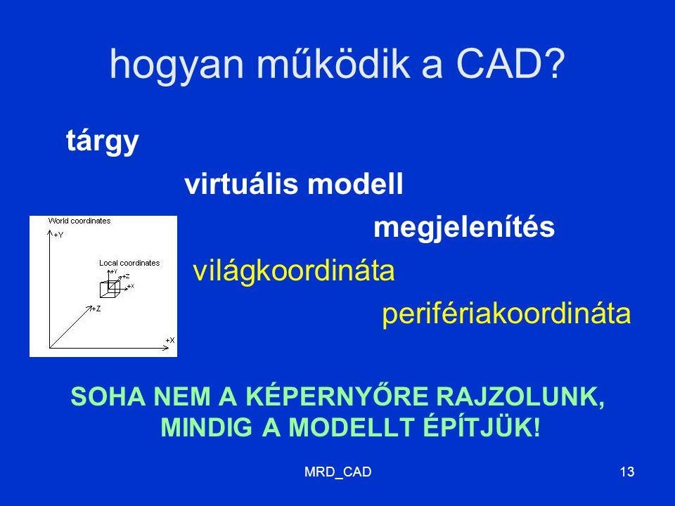 MRD_CAD13 hogyan működik a CAD.