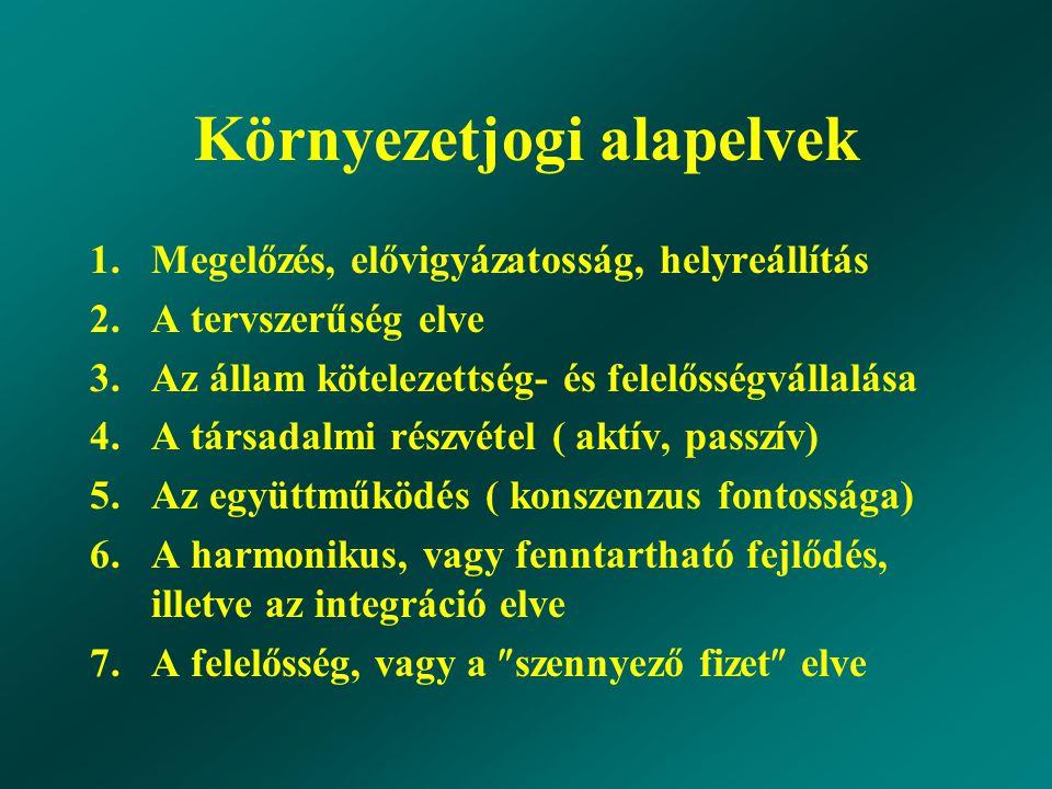 További irányelvek 8.A biodiverzitás fenntartásának elve 9.
