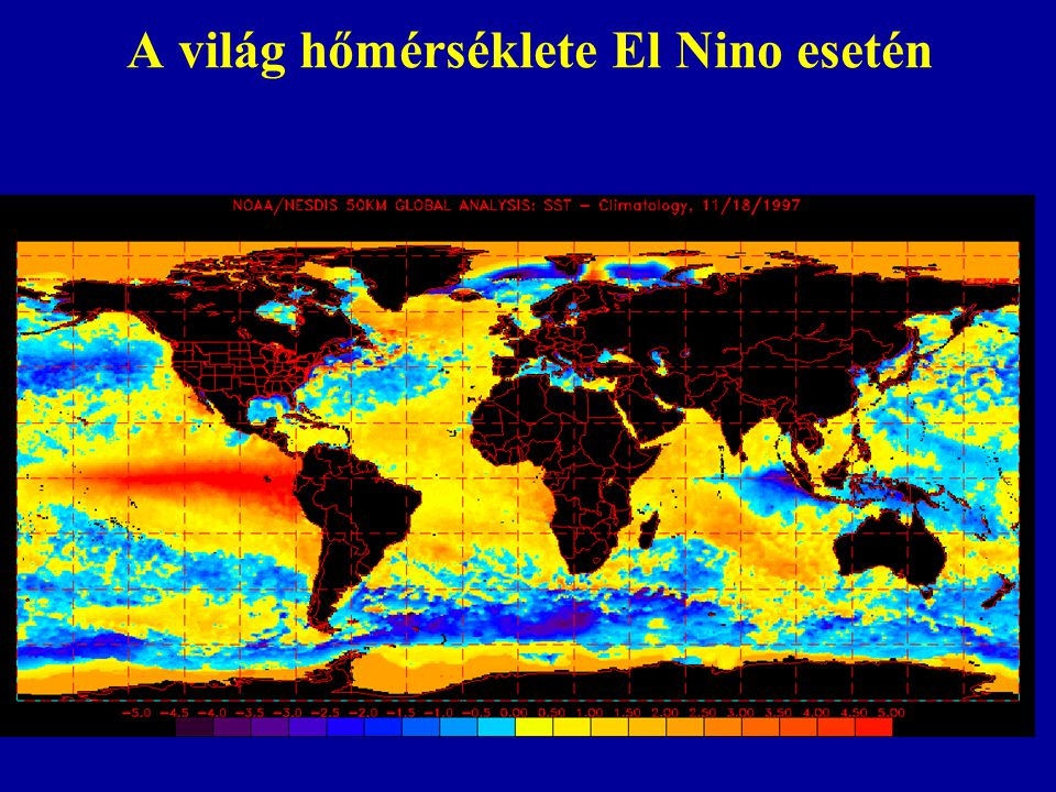 A világ hőmérséklete El Nino esetén