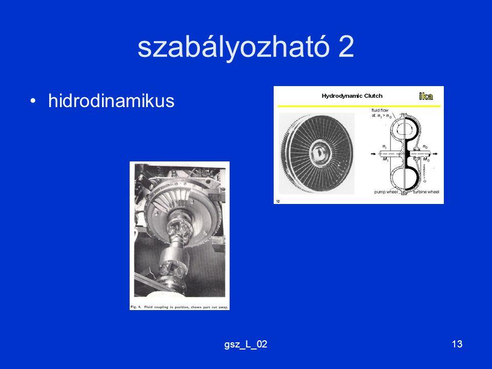 gsz_L_0213 szabályozható 2 hidrodinamikus